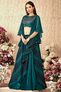 Picture of Gorgeous Teal green Designer  Lehenga