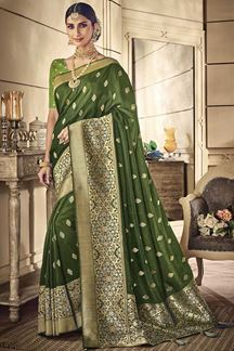 Picture of Designer Green Colored Classic Party Wear Silk Saree