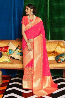 Picture of Refreshing Designer Classic Wear Silk Saree
