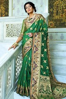 Picture of Green Designer Classic Paithani Silk Saree