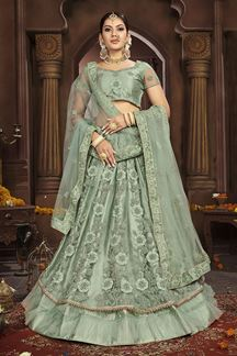 Picture of Charming Green Colored Party-Wear Lehenga Choli