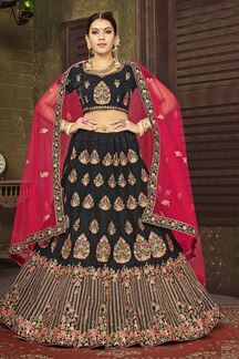 Picture of Attractive Black Colored Party Wear Lehenga Choli