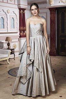 Picture of Strapless Steel Grey Designer Gown
