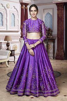 Picture of Ture Diva With Purple Dhupiyan Silk Lehenga Choli