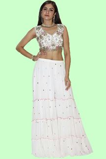 Picture of Crop top Style Palazzo Suit