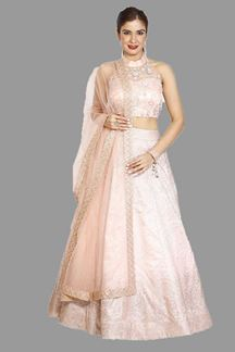Picture of Exotic Peaches Pink Colored Partywear Lehenga Choli