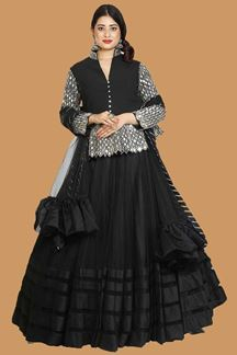 Picture of Demanding Black Colored Party Wear Lehenga Choli