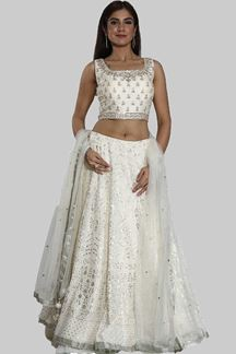 Picture of Mesmeric Cream Colored Partywear  Lehenga Choli
