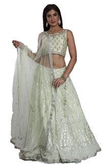 Picture of Elegant Sea Green Color Designer Lehenga Choli