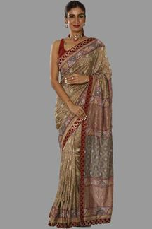 Picture of Groovy Grey Colored fancy Silk Saree