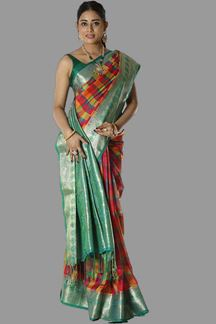 Picture of Majesty Multi Colored Banarasi Silk Saree