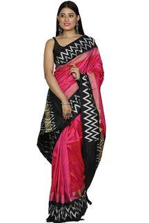 Picture of Gorgeous Rani Pink Patola Silk Saree
