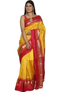 Picture of Beautiful Pink Color Smooth Patola Silk Saree