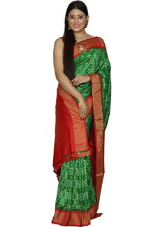 Picture of Versatile Green Colored  Patola Silk Saree