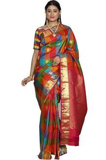 Picture of Multi Color Kanjivaram Silk Saree