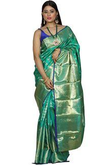 Picture of Pleasant Green Color Kanjivaram Silk Saree