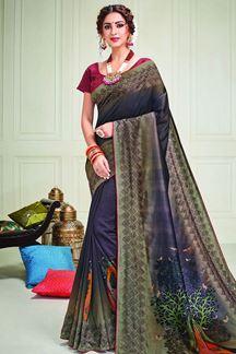 Picture of Graceful Multi-Color Designer Silk Saree