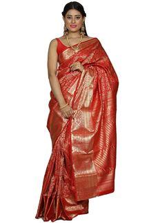 Picture of Brocade Kanjivarama Red Color Silk Saree