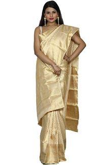 Picture of Mesmeric Golden Color Kanjivaram Silk Saree