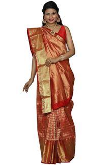 Picture of Energetic Maroon Colored Kanjivaram Silk Saree