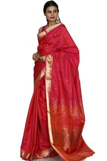 Picture of Pink Colored Designer Dharmavaram Silk