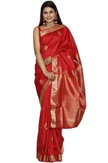 Picture of Red Colored Designer Dharmavaram Silk