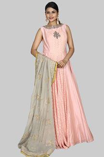 Picture of Amazing Peach Colour Fancy Anarkali Designer Suit