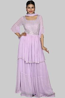 Picture of Impressive Lilac Color Gharara Suit