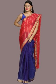 Picture of Pleasance Purple & Pink Color Gadwal Silk Saree
