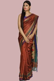 Picture of Exceptional Bangalore Silk Multi Colored Saree
