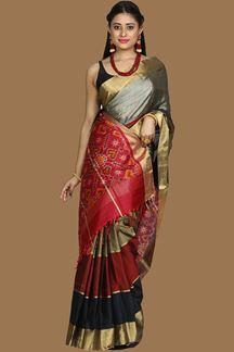Picture of Multi-Colored Bangalore Silk Saree