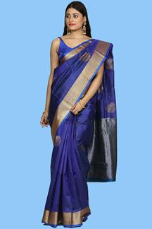 Picture of Trendy Royal Blue Colored Art Silk Saree