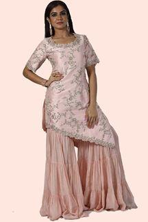 Picture of Peach Color Designer Gharara Suit