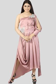 Picture of Onion Pink Color Fancy Western Out Fit