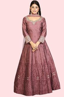 Picture of Onion Pink Anarkali Suit