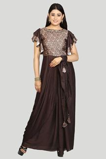 Picture of Attractive Brown Colored Designer Suit