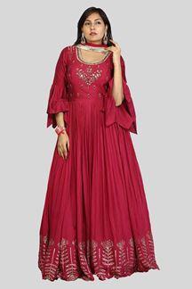 Picture of Magenta Designer Anarkali Suit