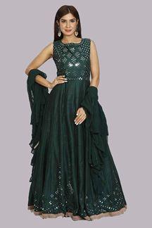 Picture of Tiptop Green Colored Designer Anarkali Suit