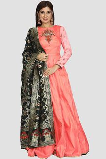 Picture of Adorable Neon Pink Color Floor Length Anarkali suit