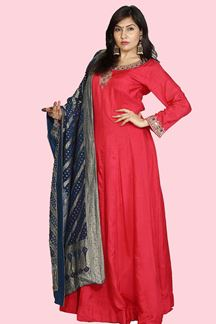 Picture of Pleasant Pink Colored Anarkali Floor Length Suit