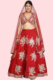 Picture of Designer Red Colored Bridal Lehenga choli