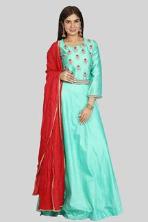 Picture of Green Anarkali Suit