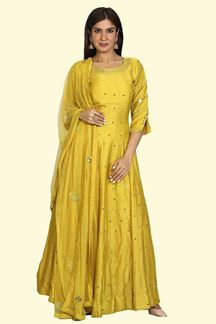 Picture of Mustard Anarkali Suit