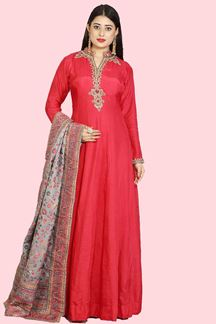 Picture of Pink Anarkali Suit