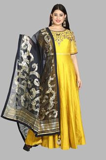 Picture of Mustard Yellow Anarkali Suit