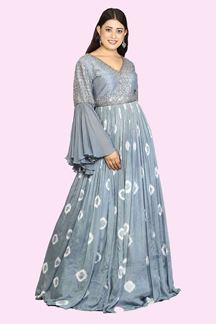 Picture of Grey Colored Floor Length Gown