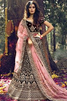 Picture of Ravishing Maroon Colored Designer Lehenga Choli