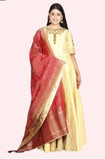 Picture of Marvellous Beige Colored Anarkali Suit