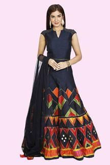 Picture of Navy Blue Color Anarkali Suit