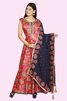 Picture of Beautiful Pink Color Printed Anarkali Suit